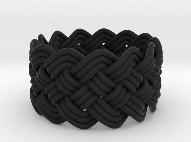 Turk's Head Knot Ring 5 Part X 13 Bight - Size 7.7 3d printed