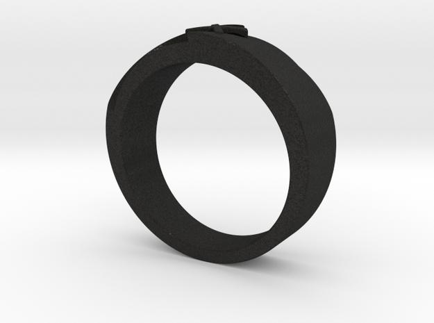 Wedding Ring R02 in Black Acrylic