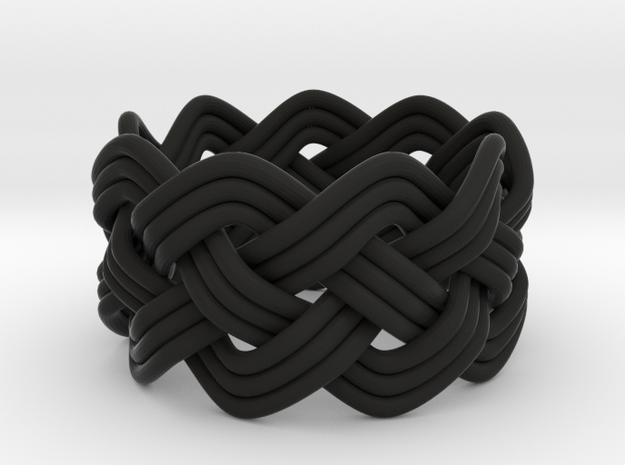 Turk's Head Knot Ring 4 Part X 9 Bight - Size 5 3d printed