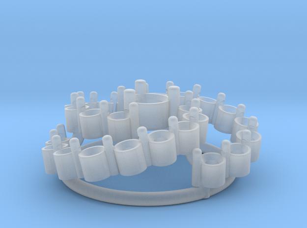 Diamond Flower Pendant 3d printed