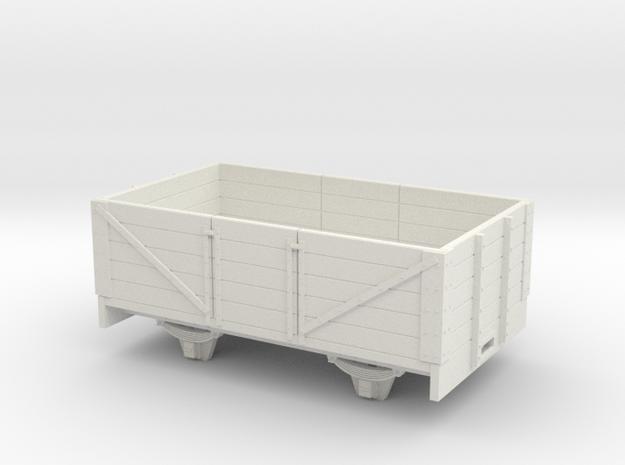 1:32/1:35 5 plank coal wagon long  in White Strong & Flexible