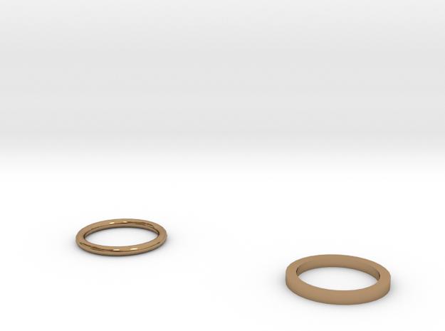 Two rings 3d printed