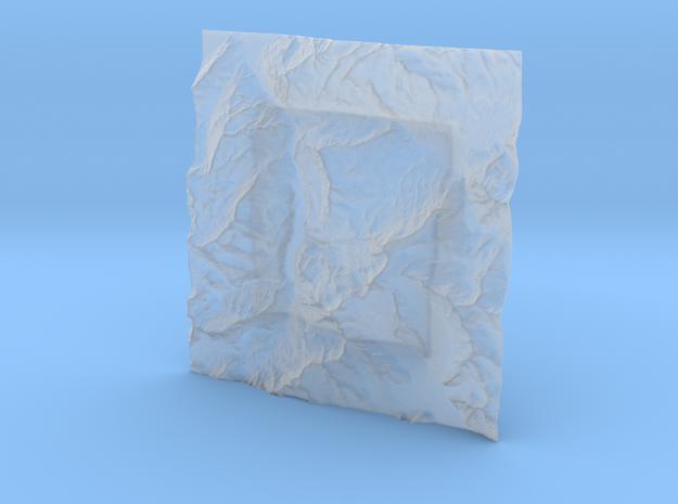 6''/15cm Oberland Peaks, Switzerland 3d printed