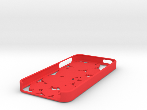 Pixel Heart iPhone 5 Case 3d printed