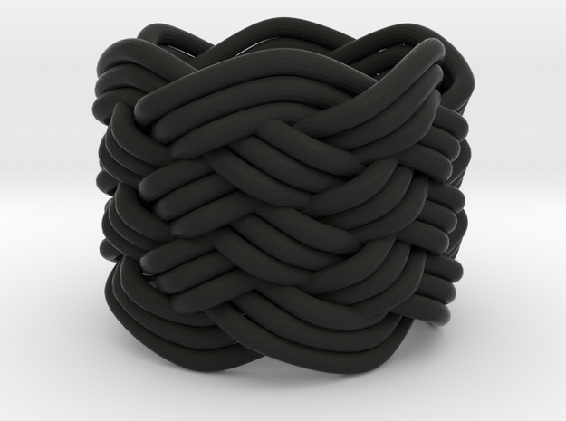 Turk's Head Knot Ring 7 Part X 6 Bight - Size 0 3d printed