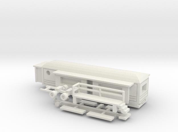 Wohnwagen rundes Dach - 1:160 (n scale) in White Natural Versatile Plastic