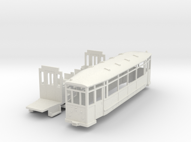 Beiwagen Thueringer Waldbahn in White Strong & Flexible