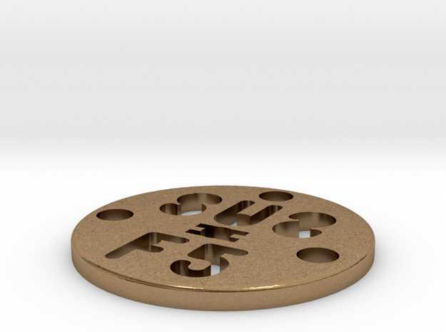 SUS Disc 28mm in Natural Brass