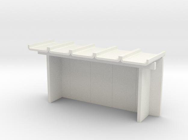 Wartehalle klein H0 in White Natural Versatile Plastic