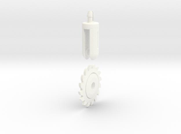Robot Knight´s Circular saw in White Processed Versatile Plastic