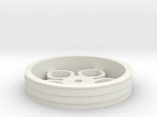 80mmFloppyBotWheel-02 in White Strong & Flexible