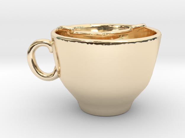 Moustache Cup in 14K Gold
