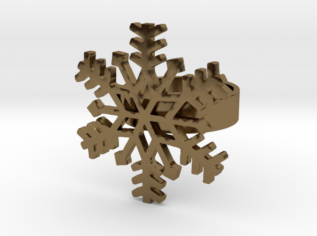 Snowflake Ring Size 7 3d printed