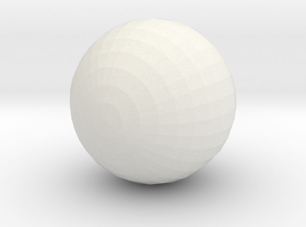 Red Ball with White :-) 3d printed