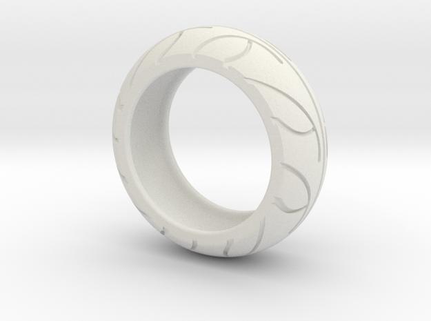Street Bike Tread Ring Size 8 3d printed