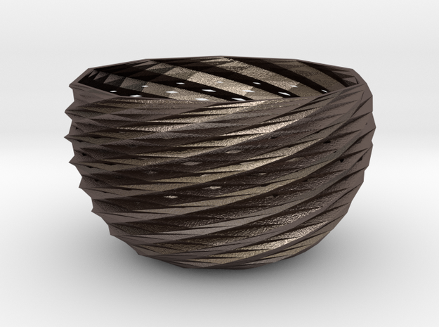 frodo basket in Polished Bronzed Silver Steel