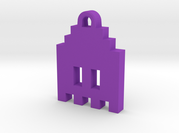 Pac Man Ghost 8-bit Earring 1 (looks down | moving 3d printed