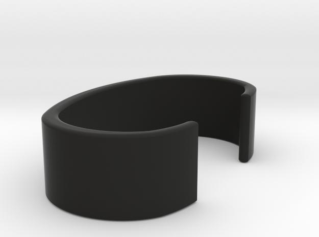 Mercury Symbol Thin Cuff Bracelet 3d printed