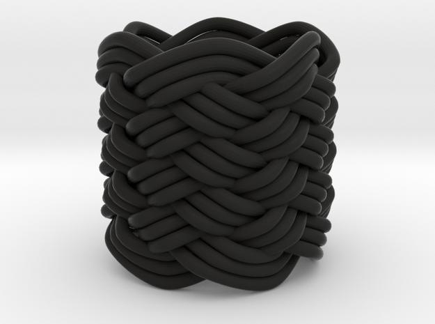 Turk's Head Knot Ring 9 Part X 6 Bight - Size 0 3d printed