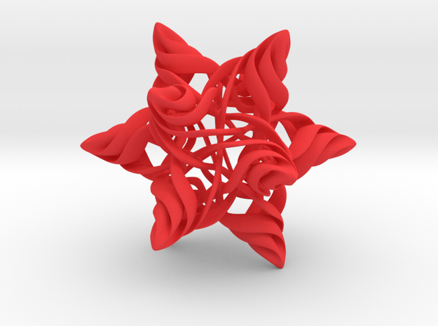 Rhombic Triacontahedron V, large 3d printed