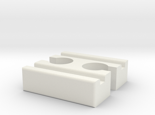 Ikea LILLABO F-F Connector 40mm With Marking in White Natural Versatile Plastic