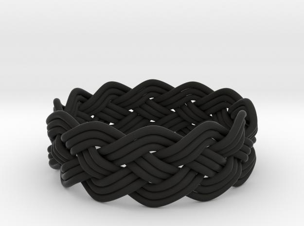 Turk's Head Knot Ring 4 Part X 12 Bight - Size 14. 3d printed