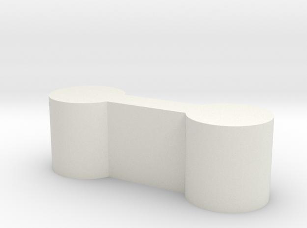 Brio M-M Connector 0mm in White Natural Versatile Plastic