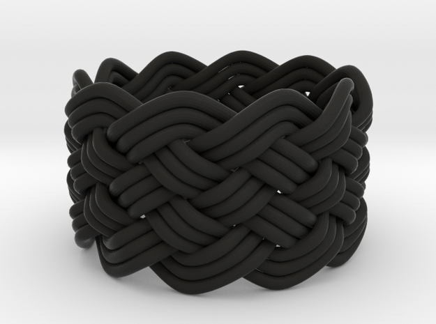 Turk's Head Knot Ring 6 Part X 10 Bight - Size 7 3d printed