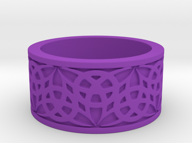"""""""Eternal Triquetra"""" Ring Size 8 3d printed"""