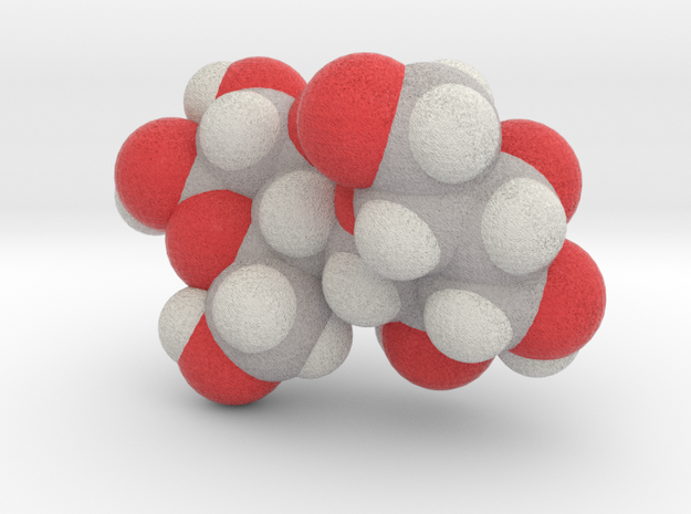 Lactose molecule (x40,000,000, 1A = 4mm) in Full Color Sandstone