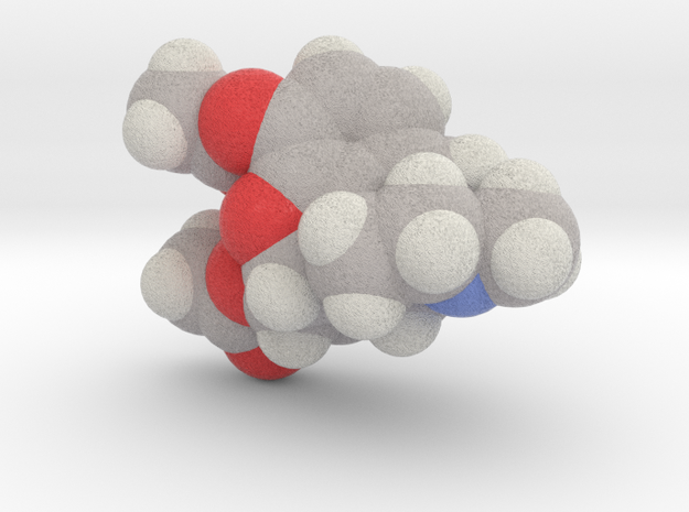 Heroin molecule (x40,000,000, 1A = 4mm) in Full Color Sandstone