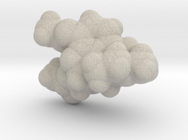 Heroin molecule (x40,000,000, 1A = 4mm) 3d printed