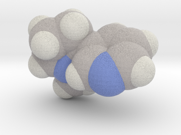 Nicotine molecule (x40,000,000, 1A = 4mm) in Full Color Sandstone