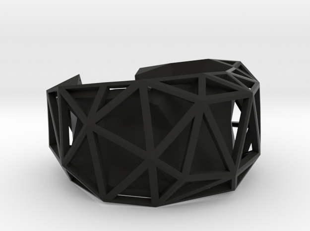 Facetedcuff 3d printed