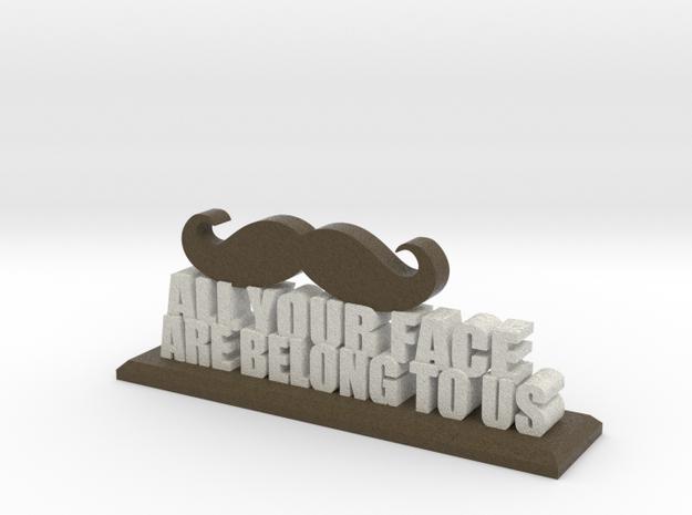 Mustache of Power in White Natural Versatile Plastic