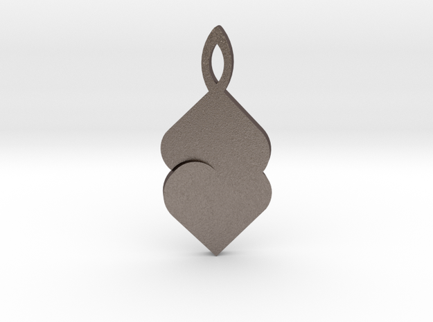 Earring by Andreas Fornemark in Polished Bronzed Silver Steel