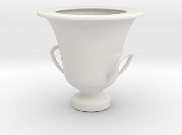 Greek Vase - Krater - Calyx in White Natural Versatile Plastic