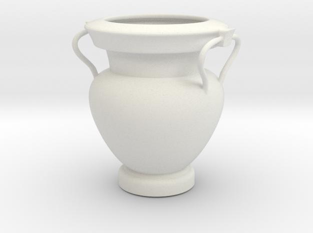 Greek Vase - Krater - Column in White Natural Versatile Plastic