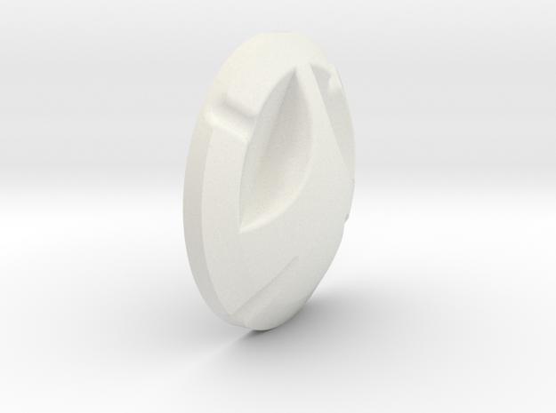 Cyclops Button in White Natural Versatile Plastic
