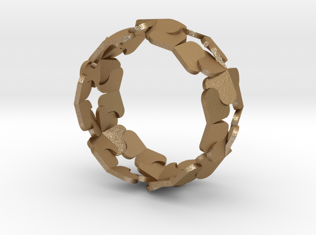 Heart/Clover Ring by Andreas Fornemark in Matte Gold Steel