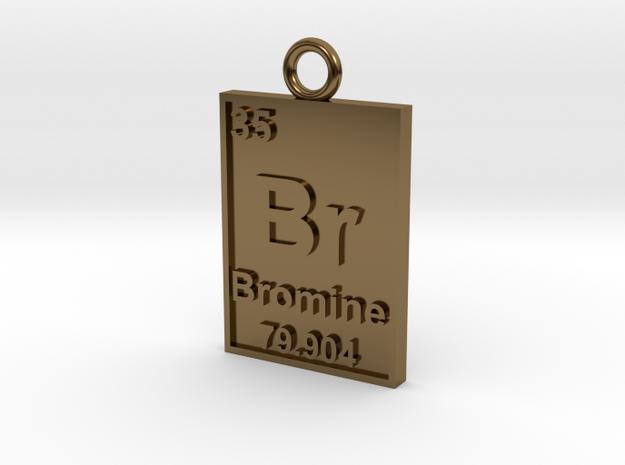 Bromine Periodic Table Pendant 3d printed