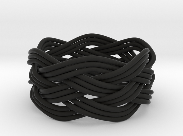 Turk's Head Knot Ring 5 Part X 6 Bight - Size 12.5 3d printed