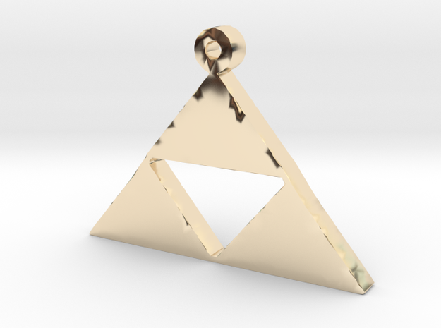 Triforce Pendent  in 14K Gold