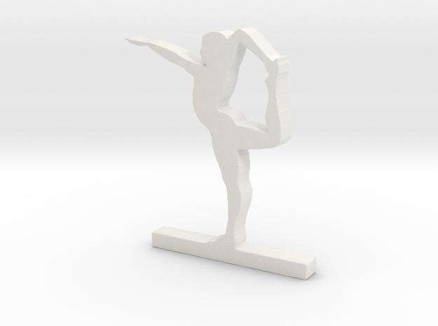 Yoga Pose ( Natarasana ) in White Natural Versatile Plastic