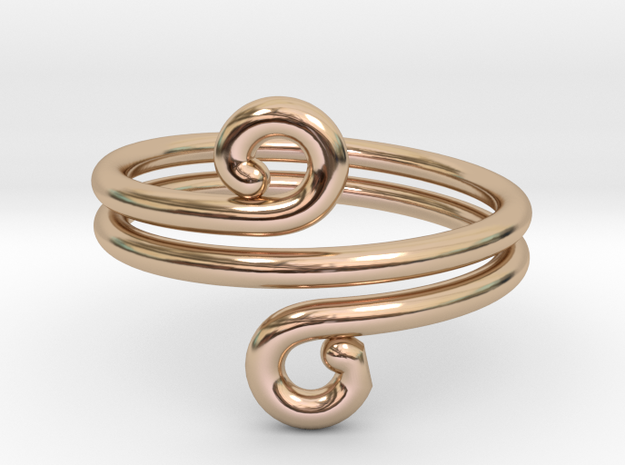 Swirl Design Ring in 14k Rose Gold