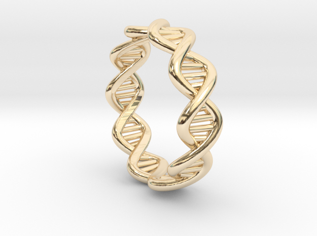 Male DNA Ring From The Male Female Matching Set in 14K Yellow Gold