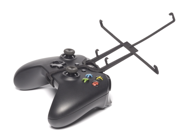 Xbox One controller & Apple iPad Air 3d printed Without phone - A Nexus 7 and a black Xbox One controller