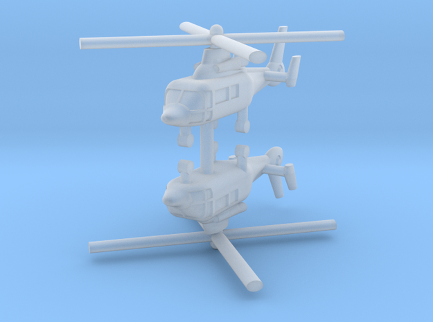 1/600 Eurocopter AS365 Dauphin (x2) in Smooth Fine Detail Plastic