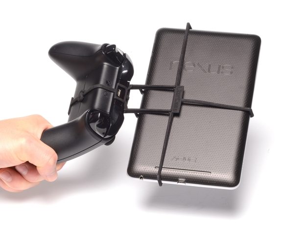Xbox One controller & Xolo Tab 3d printed Holding in hand - Black Xbox One controller with a n7 and Black UtorCase