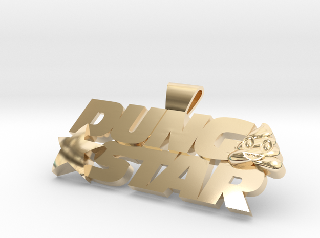 DungStar 100mm Wide in 14K Yellow Gold